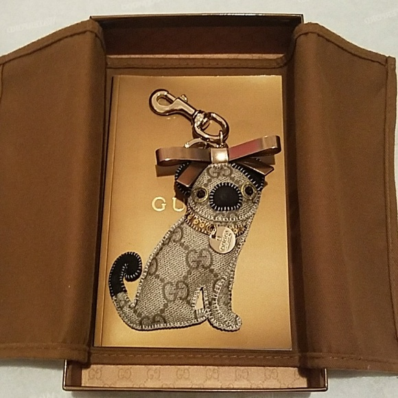 dfc9b8d6efc6 Gucci Accessories | Nib Oliver Pug Dog Charmkeychain | Poshmark